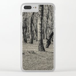 The horse and the oaks Clear iPhone Case