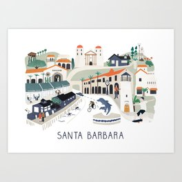 The best of Santa Barbara Art Print