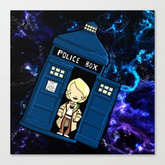 Tardis in space Doctor Who 5 Canvas Print