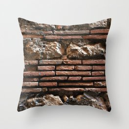 Ancient Mix-media Wall Throw Pillow