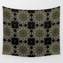 Art Deco No. 8 . The round ornament . Wall Tapestry