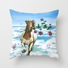 On the Loose Throw Pillow