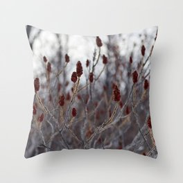 Winter Red Throw Pillow