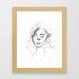 sad gurl Framed Art Print