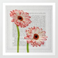 writing Art Prints featuring Old Writing by Susann Mielke
