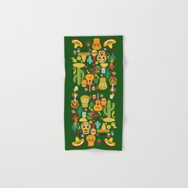 Fiesta Time! Mexican Icons Hand & Bath Towel