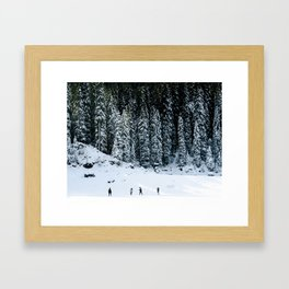 let it snow. Framed Art Print