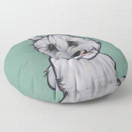 Levi the Miniature Schnauzer Floor Pillow
