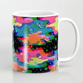 Psychedelic 3D Alien Print Coffee Mug