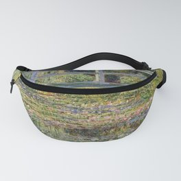 WATER LILY POND WITH JAPANESE BRIDGE - CLAUDE MONET  Fanny Pack