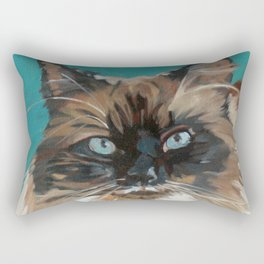 Tipper the Cat Portrait Rectangular Pillow