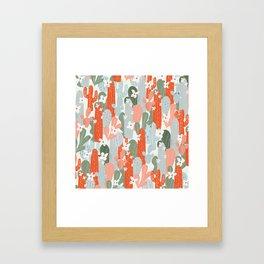 Floral Cactus Framed Art Print