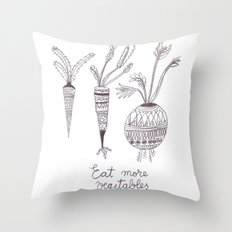 Eat more vegetables Throw Pillow