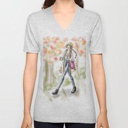 Fall Fashion Coffee Girl Unisex V-Neck