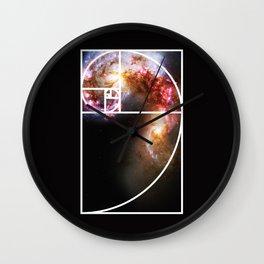 Fibonacci Spiral Galaxy Wall Clock