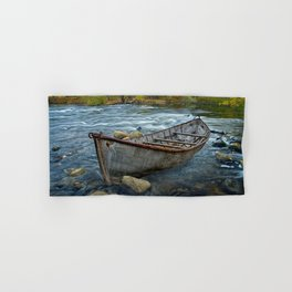 Canoe on the Thornapple River in Autumn Hand & Bath Towel