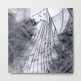Abstract Mirrored Ghost Metal Print