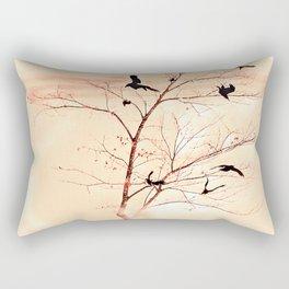 WHITEOUT/Peach Rectangular Pillow