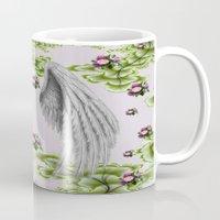 angel wings Mugs featuring angel wings by karens designs