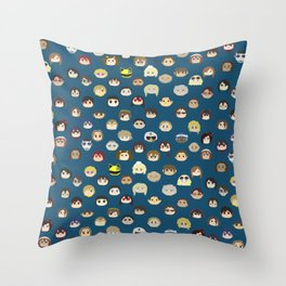 A Mix of Color Gangs Throw Pillow