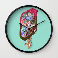 icecream Wall Clocks featuring Icecream pop by makapa