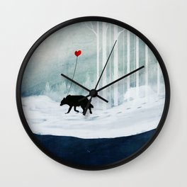 WOLF - A Love Always Carried  Wall Clock