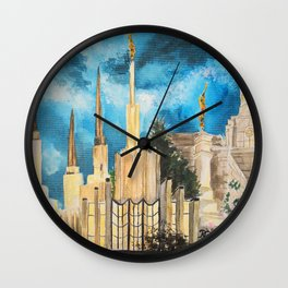 Zion's LDS Temples Painting Wall Clock