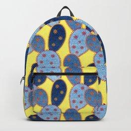 Denim Cactus Patchwork Quilt (Yellow) Backpack