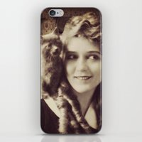 thundercats iPhone & iPod Skins featuring Mary Pickford - Vintage Lady with kitten by Augustinet