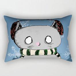 Snow Kitty Rectangular Pillow
