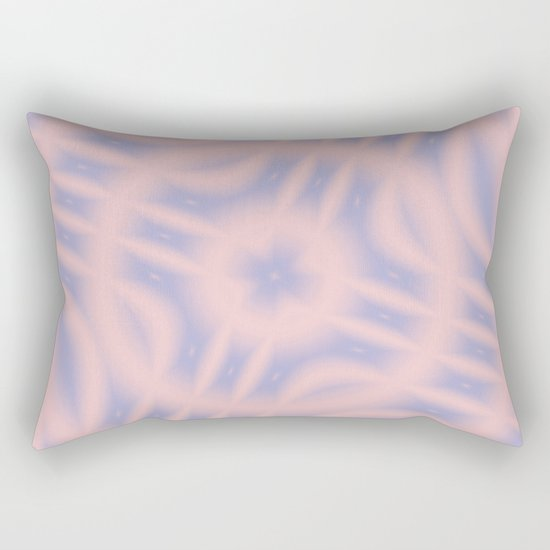Spacial Coordinates in Rose Quartz and Serenity Rectangular Pillow