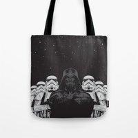 animal crew Tote Bags featuring The crew by Roland Banrevi