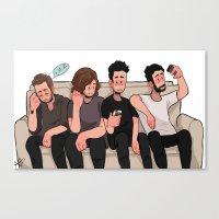 boys Canvas Prints featuring boys by skyberia