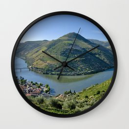 The Vale do Douro at Pinhao, Portugal Wall Clock