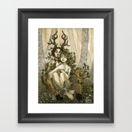 Everything is quiet Framed Art Print