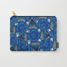 Blue ombre watercolor mermaid mandala boho pattern Carry-All Pouch