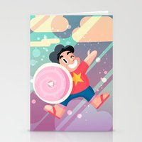 steven universe Stationery Cards featuring Steven by Viga Victoria Gadson
