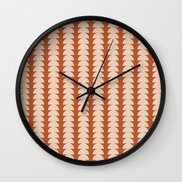 Maude Pattern - Vintage Orange Wall Clock
