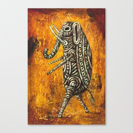 Walking Elephant Canvas Print