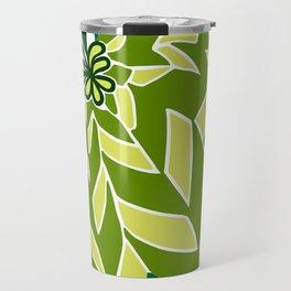 BAYAMO: GREEN SCENE, Art Deco Tropical Travel Mug