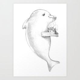 Puff Puff Pass the Pufferfish Art Print