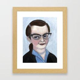 """The Haunting of Shirley"", Shirley Jackson Literary Portrait Framed Art Print"