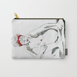 Mother Earth Grounding; seated nude Carry-All Pouch