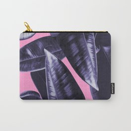 Rubber Plant Pink Carry-All Pouch