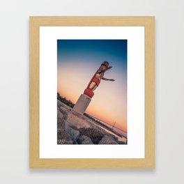 City Totem Framed Art Print