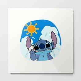 Summer Stitch Metal Print