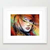 britney spears Framed Art Prints featuring  britney spears  by mark ashkenazi