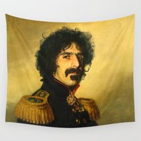 replaceface Wall Tapestries featuring Frank Zappa - replaceface by replaceface