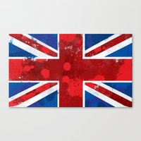 union jack Canvas Prints featuring Union Jack by Riley