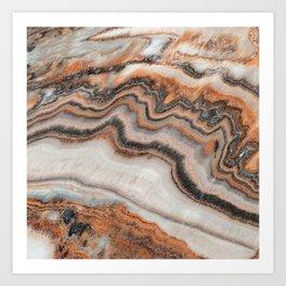 Copper Marble Granite Art Print